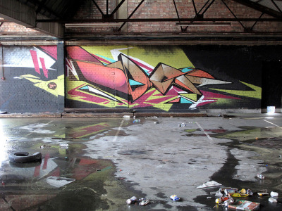Dark wet warehouse on a hot sunny day… by Dep…….. { PaintshopStudio.com } on Flickr.Dep