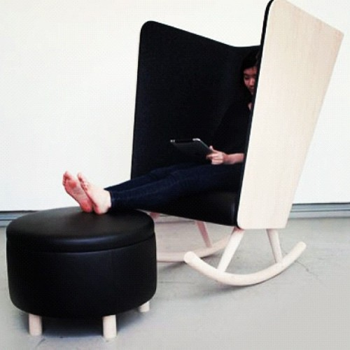 withlovesmally:  This is what I call a #rockingchair! This baby can be found at #hermanmiller #design #interiordesign #furniture (Taken with instagram)