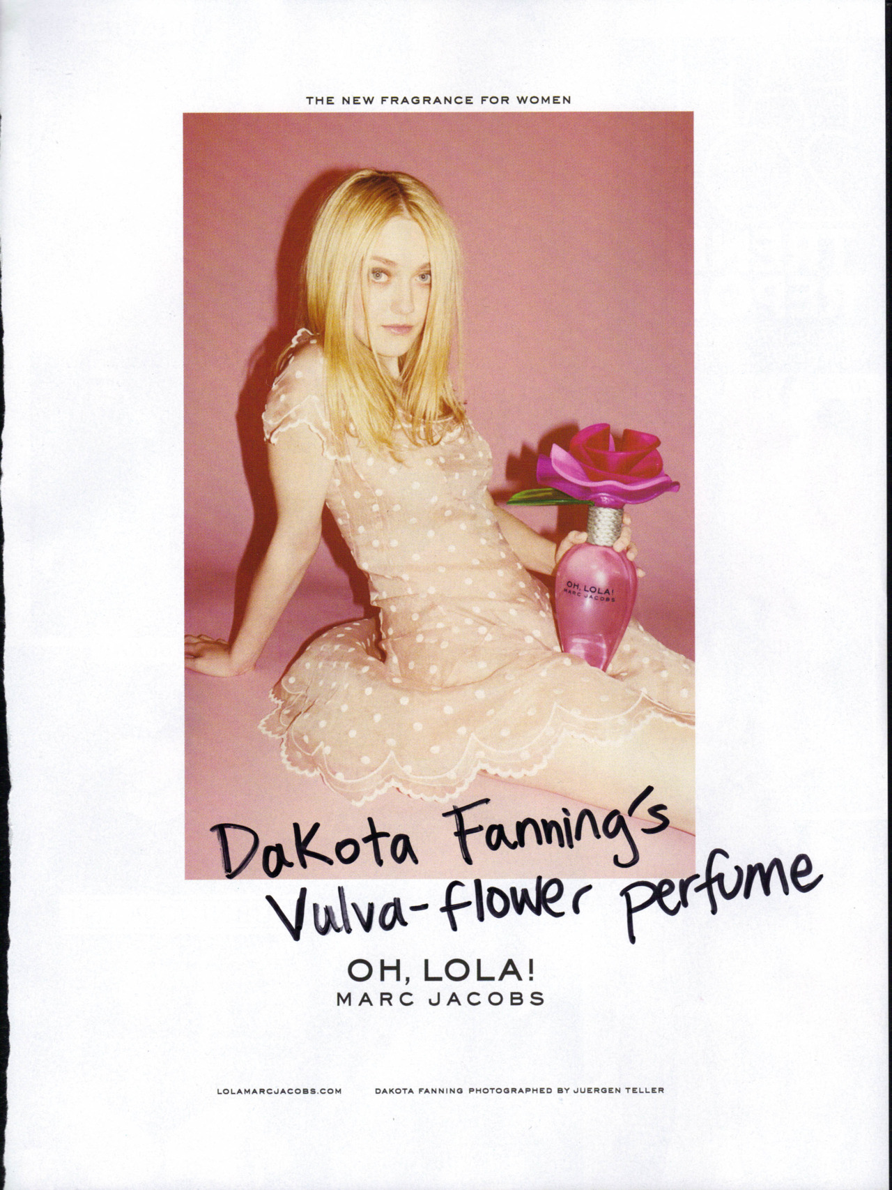 Dakota Fanning was 17 when this ad was made. It was banned in Britain for over-sexualizing a minor.