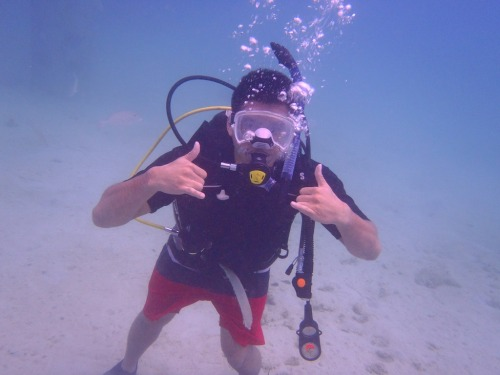 SCUBA diving out at fish-eye, Guam.  Finally got around to get certified…its too cheap here to not do it.  Can't wait for our second session this Saturday.