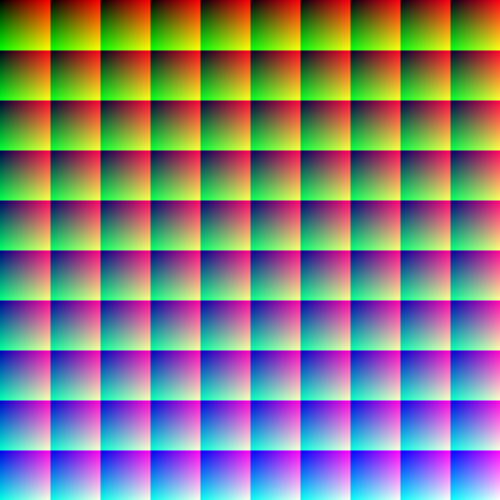 1 Million individual colors.