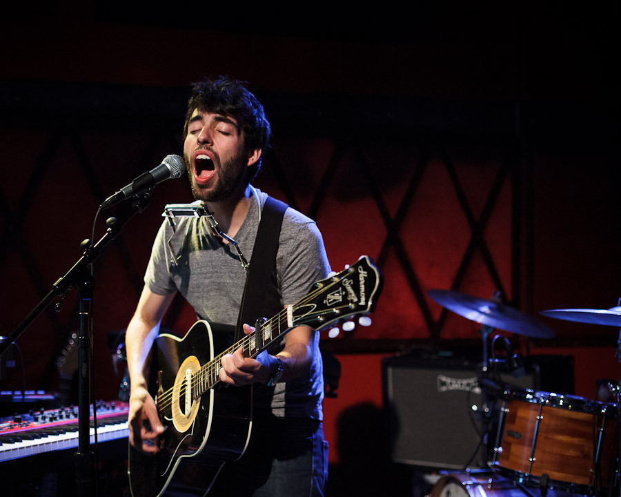 Montreal singer-songwriter Leif Vollebekk. Rockwood Music Hall, NYC, May 23, 2012. © Dominick Mastrangelo