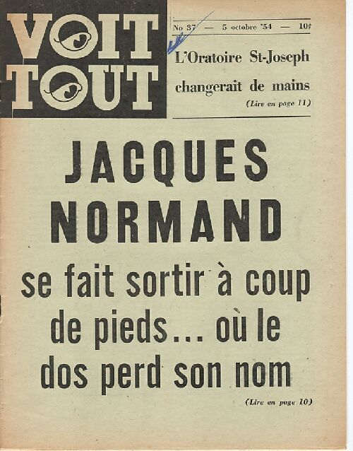 Voit Tout. October 5th, 1954.