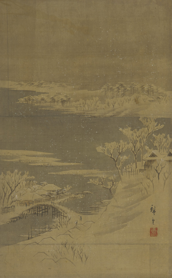 Utagawa Hiroshige, Landscape of the season: winter (Edo: 1615-1868)
