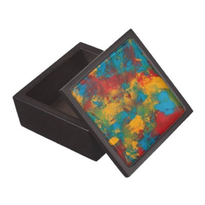 (via Paint Splatters Gift Box Premium Jewelry Box from Zazzle.com)
