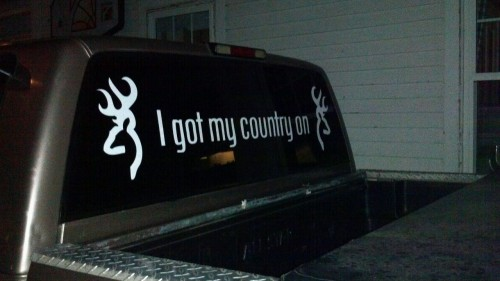 wild-f-l-o-w-e-r:  browning84:  New sticker on the Chevy :)  I WANT IT!!!!