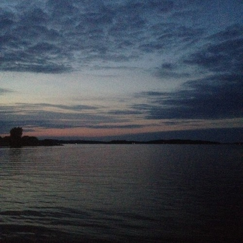 The tail end of sunset. #Sunset #Clayton #ThousandIslands (Taken with instagram)