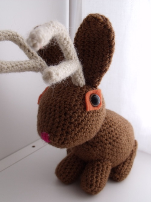 Hello there!! Meet one of my favorite members of my shop, the Jackalope!  https://www.etsy.com/listing/95635770/jackalope