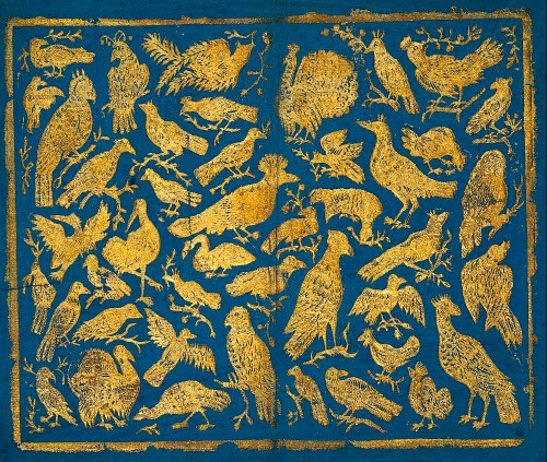 stilllifequickheart:  Unknown (Dutch) Brocade Paper with Birds Late 18th century