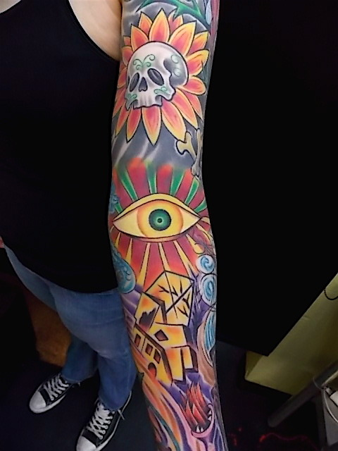The inside of my sleeve, done by the amazing Eric Grover, Bloodline Elite Tattooing, OKC.