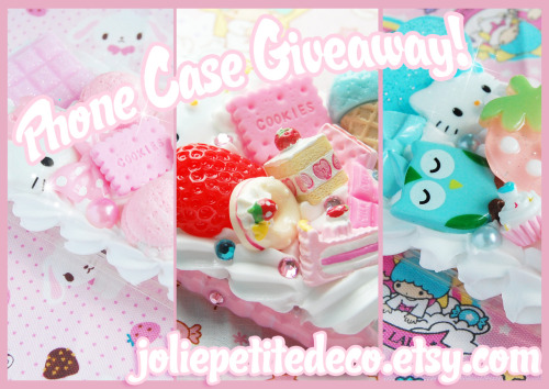 misskittyxo:  Phone Case Giveaway from Misskittyxo!Fancy winning yourself a fully customisable whipped cream phone case from Jolie Petite? Here's your chance!Here's what you have to do to be in with a chance of winning: ♡ Reblog this post as many times as you want (but try not to spam your followers!) ♡ Follow me! (misskittyxo). ♡ Please reblog from ONE blog only (no blogs used especially for giveaways either please!). ♡ If you can (it would really help!) please like Jolie Petite on Facebook and add my Etsy to your favourites!Other info you might want to know: ♡ The give away is international, and starts today (28th May) and will end on the 28th June. ♡ The give away winner will get to customise their own phone / console / gadget case to their own specifications, free of charge. All I ask for in return is a photo and a mini review of the case I send :) If you need to know anything else, feel free to leave me a message in my ask box. Otherwise, good luck! ♡