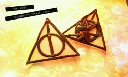 Deathly Hallows + Hunger Games + Deathly Hallows Pins www.facebook.com/thoughtofyoushop