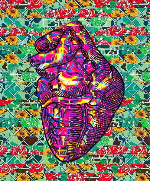 "cardiac-art:  ""Give Strong"" by Wayne Edson Bryan"