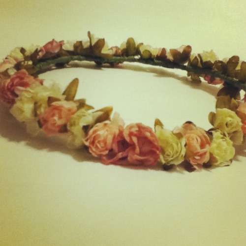 purriko:  new pastel flower headband in our etsy shop! c;  https://www.etsy.com/listing/100795125/pastel-flower-headband-floral-pink-cream