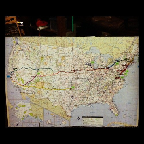 A map of our ludicrous tour.  (Taken with instagram)