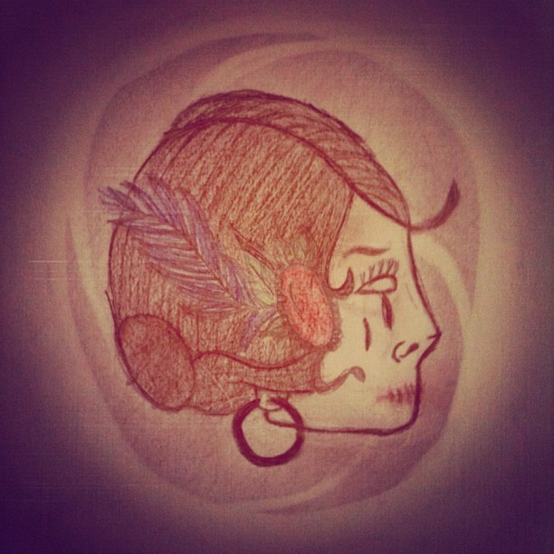 My drawing with instagram filters.