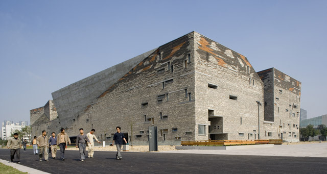 The winner of the Pritzker Architecture Prize 2102 is Chinese architect Wang Shu, for the Ningbo History Museum, 2003-2008, Ningbo, China.  The judges citation reads:-  Wang Shu´s buildings have a very rare attribute—a commanding and even, at times, monumental presence, while functioning superbly and creating a calm environment for life and daily activities. The History Museum at Ningbo is one of those unique buildings that while striking in photos, is even more moving when experienced. The museum is an urban icon, a well-tuned repository for history and a setting where the visitor comes first. The richness of the spatial experience, both in the exterior and interior is remarkable. This building embodies strength, pragmatism and emotion all in one.