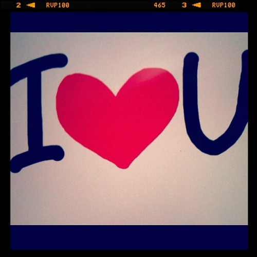 #iloveyou #ipad #handdrawing :) (Taken with instagram)