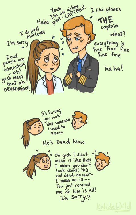 bendydicks:  Molly from Sherlock and Martin from Cabin Pressure attempt to socialize with each other. [x]  This made me cry a little. Just cause… you know… FEELS.