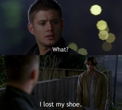 Supernatural - Season 3 Episode 3 , Bad Day at Black Rock  Sams face ohh god! its like a lost puppy. I'll take you in!