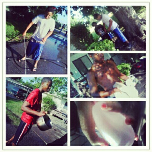 Our little water fight > :p (Taken with instagram)