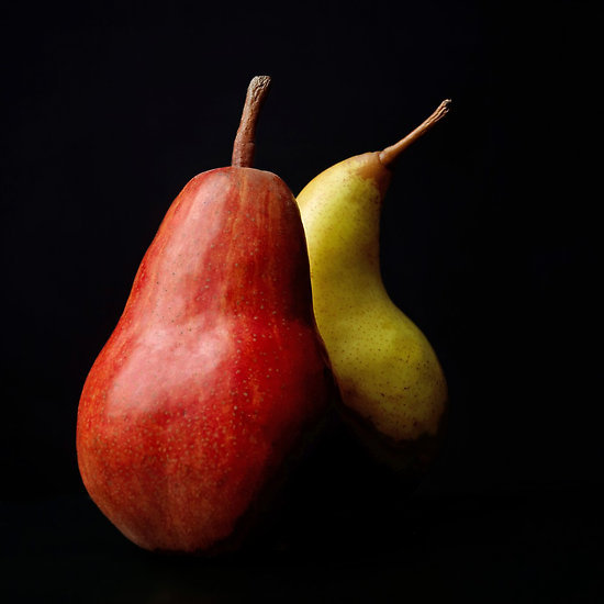 "prettyredstuff:  ""Two pears"" by Bernard Jaubert"
