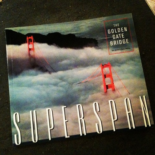 Superspan, written by my dad in 1979. My love for the Golden Gate Bridge runs deep. (Taken with instagram)