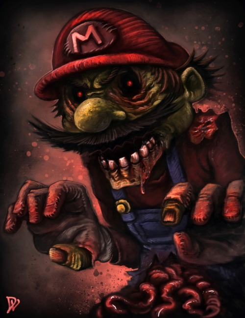 assorted-goodness:  Zombie Mario - by Dustin Lincoln Website || CGhub