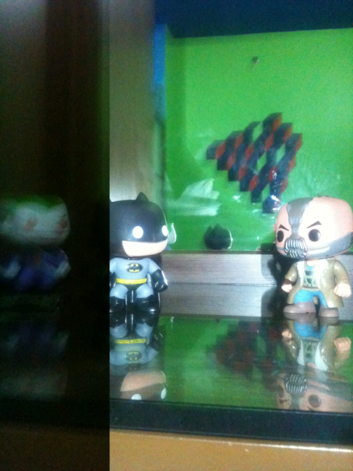 My room helping me get pumped for the dark knight rises.:))