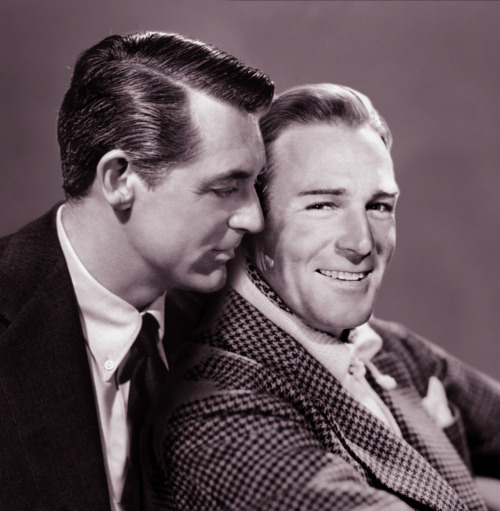 1bohemian:  Cary and his boyfriend, Randolph Scott