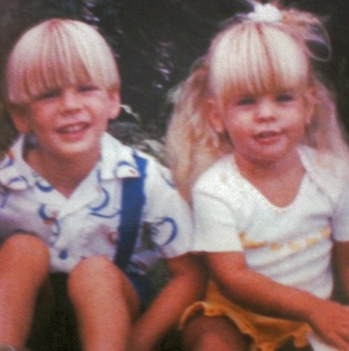 Kirsten with her brother Austin.