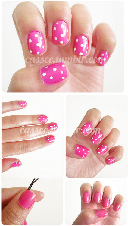 Hot pink polka-dots! Kind of a how-to? :)