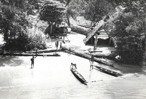 Maroon village, Suriname River, 1955.