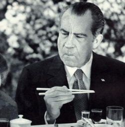 Oh nothing, just Nixon eating Chinese food