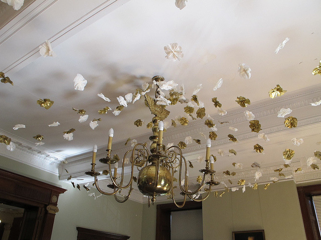 Chandelier decorations in the Greeley Library by Rimager on Flickr.