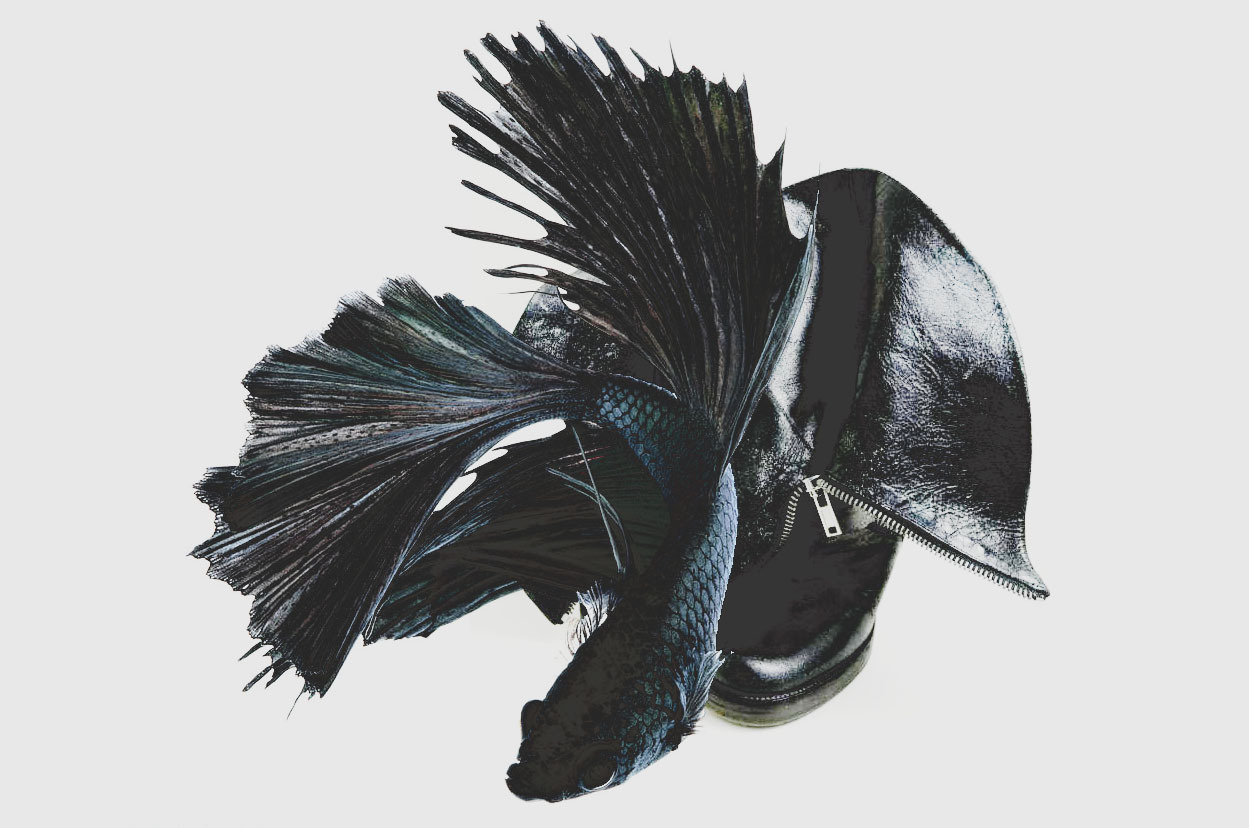 Rick Owens Leather Heels as Betta Dragon Fish