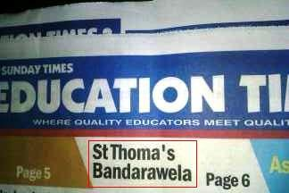 typoincolombo:  The value of a good education … in the Sunday Times education section. St. Thomas must be turning in his grave. Via @keheliya. More 'educational-ish' typos here.