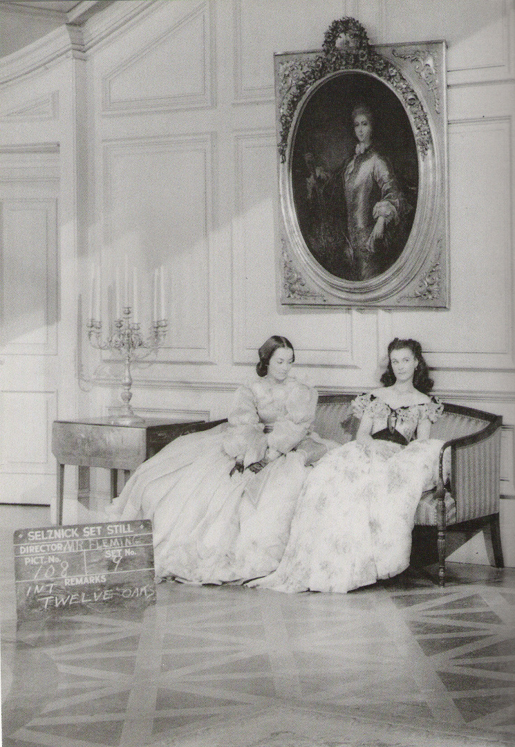 Olivia de Havilland and Vivien Leigh during the filming of Gone with the Wind in 1939