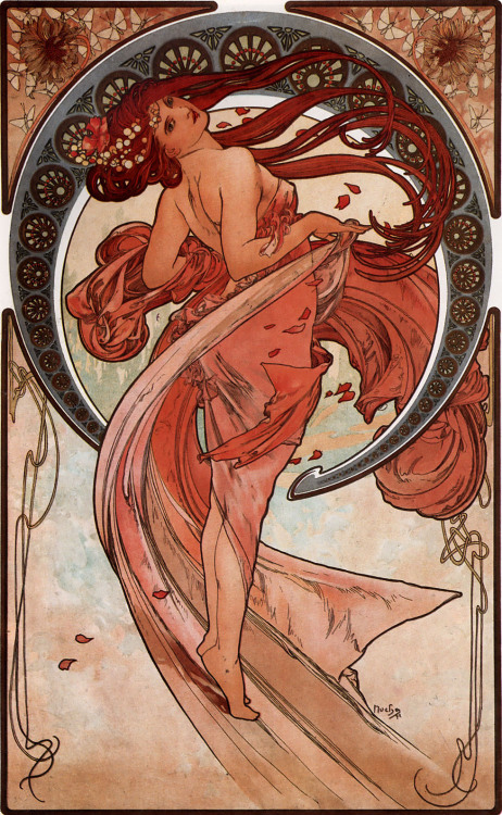 suicideblonde:  Dance (1898) by Mucha