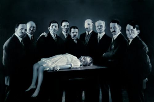 mirrormaskcamera:  gottfriedhelnwein on deviantART:  Epiphany III (Presentation at the Temple) by Gottfried Helnwein
