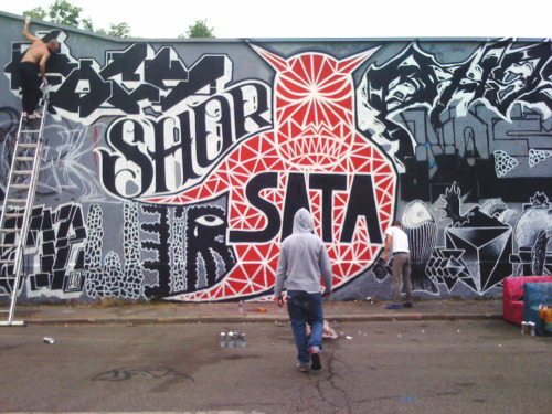// A LITTLE PREVIEW // PAINTING WITH MY CREW, SATA CREW AKA SATANIST AT LEONCAVALLO SWAT MILANO