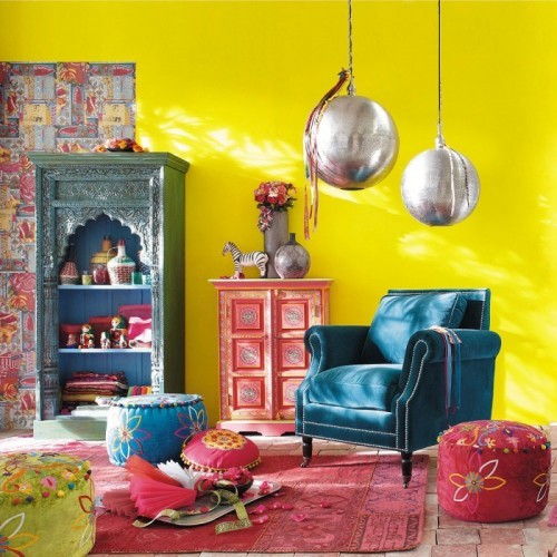 colorful exotic living room