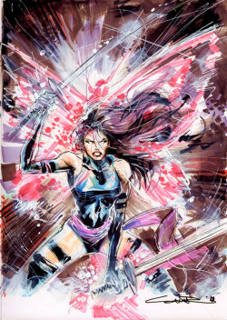 Psylocke sketch by Yildiray Cinar. June, 2010.