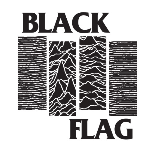 akutakpeduli:  Black Flag x Joy Division.