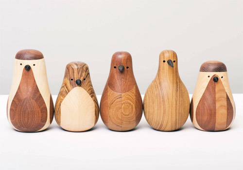 booooooom:  Recycled chair legs become beautiful birds, designed by Beller.