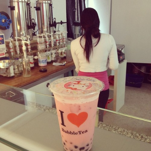 Omg found a bubble tea place in Switzerland!!  (Taken with instagram)