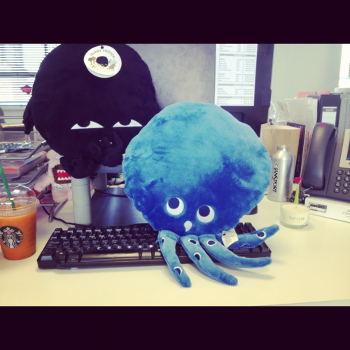 My Monki desk friends