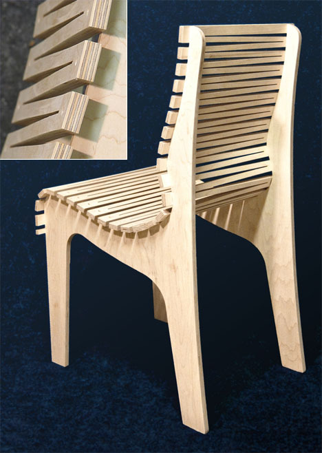 businessboomcollective:  This Zig Zag Chair, made from just three pieces of high grade maple plywood, is by Oregon-based furniture designer Randy Weersing. According to the description it's light, strong, and ergonomically comfortable (via Randy Weersing's Zig Zag Chair: Three Pieces of Plywood and Many, Many Cuts - Core77)