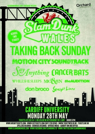 Today in Cardiff! We're on at 8:25pm, right before @TBSofficial.