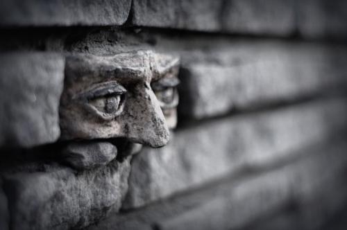 goodnightmorticia:  Another brick in the wall - In Gorzow, Poland